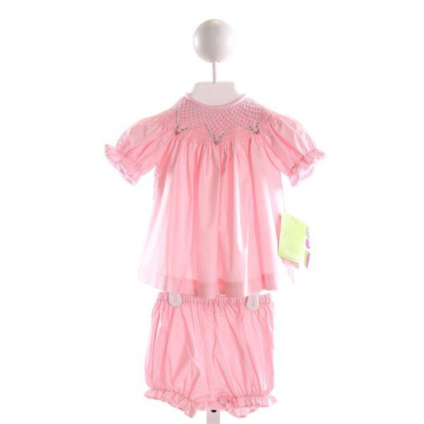 KANDYLAND KIDS  PINK   SMOCKED 2-PIECE OUTFIT WITH RIC RAC