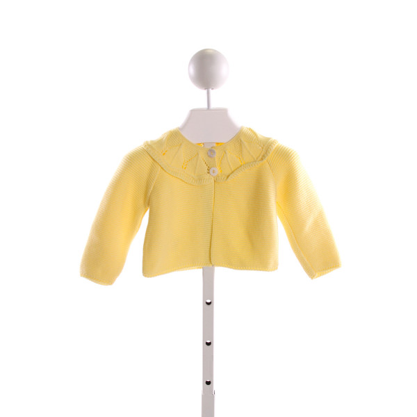LA COQUETA  YELLOW    CARDIGAN