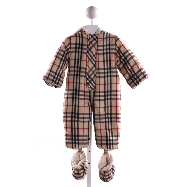 BURBERRY  MULTI-COLOR  PLAID  SNOWSUIT