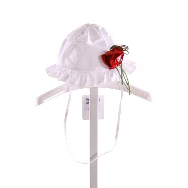 ALBETTA  WHITE   APPLIQUED ACCESSORIES - HEADWEAR WITH RUFFLE