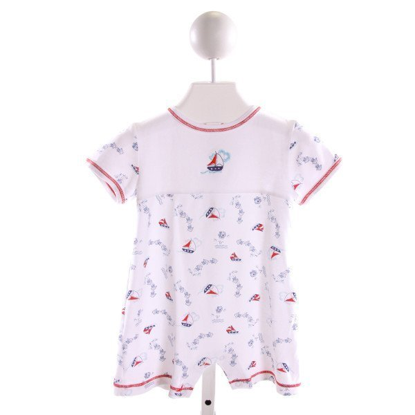HUG ME FIRST  MULTI-COLOR  PRINT EMBROIDERED KNIT SHORTALL