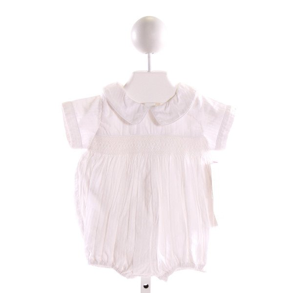 STRASBURG  OFF-WHITE  STRIPED SMOCKED BUBBLE