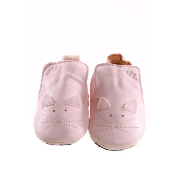 EASY PEASY LIGHT PINK MOUSE SOFT SOLES *SIZE 12-18 MONTHS = APPROX SIZE 2-3, VGU - SCUFFING