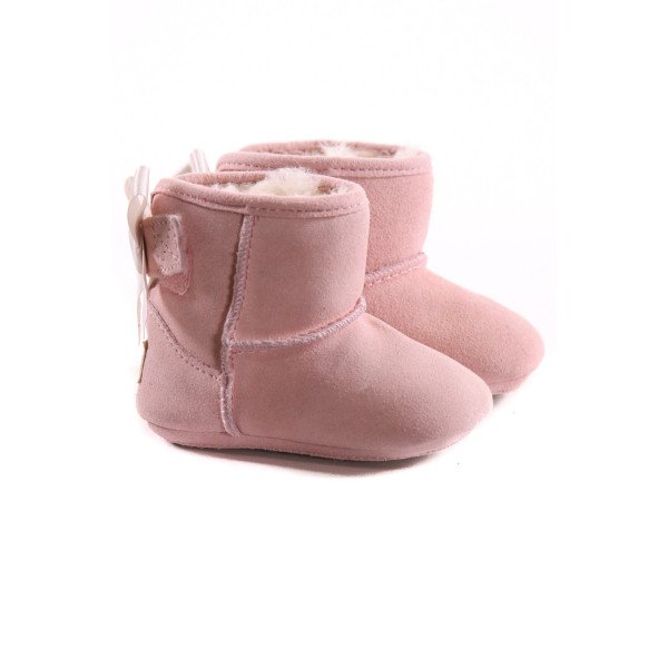 UGG PINK BOOTIES WITH BOWS *SIZE 0-1, VGU - VERY MINOR DISCOLORATION