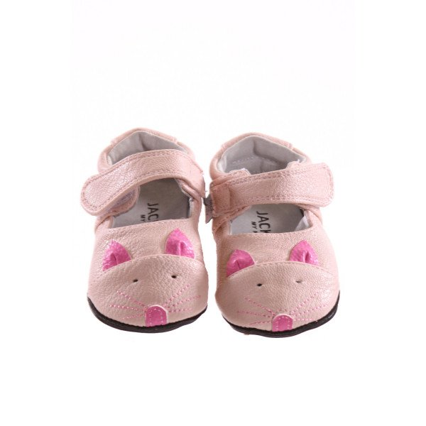 JACK AND LILY LIGHT PINK SHOES *SIZE 6-12 MONTHS = APPROX SIZE 3, EUC