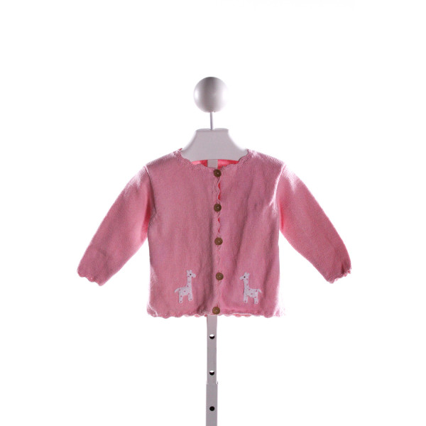 LITTLE ENGLISH  PINK   EMBROIDERED SWEATER