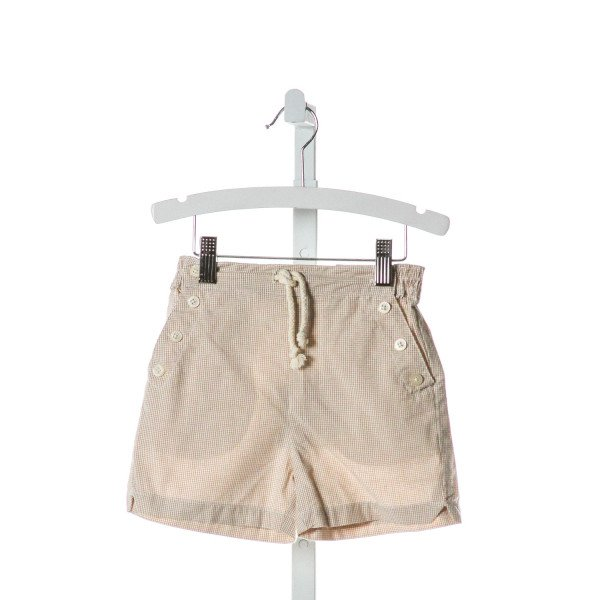 OLIVE JUICE  BROWN  GINGHAM  SHORTS