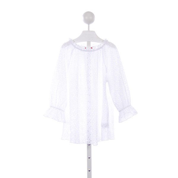 KATE MACK WHITE EYELET SWIM COVER-UP