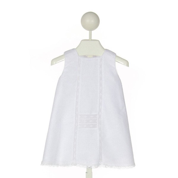 DONDOLO  WHITE    DRESS WITH LACE TRIM