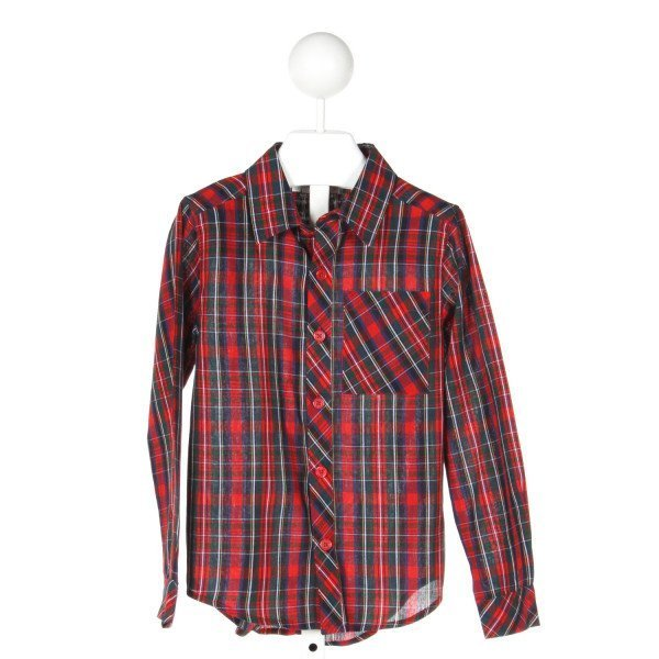 RACHEL RILEY  MULTI-COLOR COTTON PLAID  CLOTH LS SHIRT