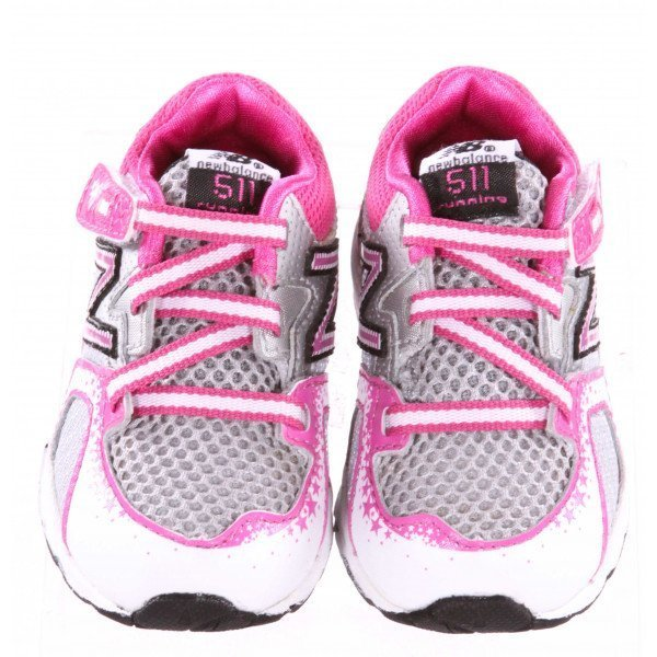 PINK AND GRAY NEW BALANCE SNEAKERS *SIZE 3, EUC