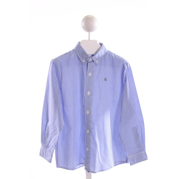J. BAILEY  BLUE  GINGHAM  CLOTH LS SHIRT