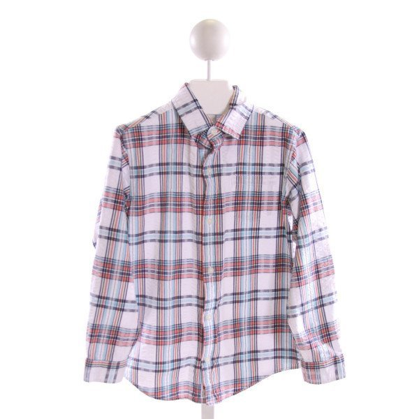 JANIE AND JACK  MULTI-COLOR SEERSUCKER PLAID  CLOTH LS SHIRT