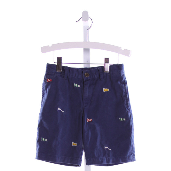 POLO BY RALPH LAUREN  ROYAL BLUE   EMBROIDERED SHORTS