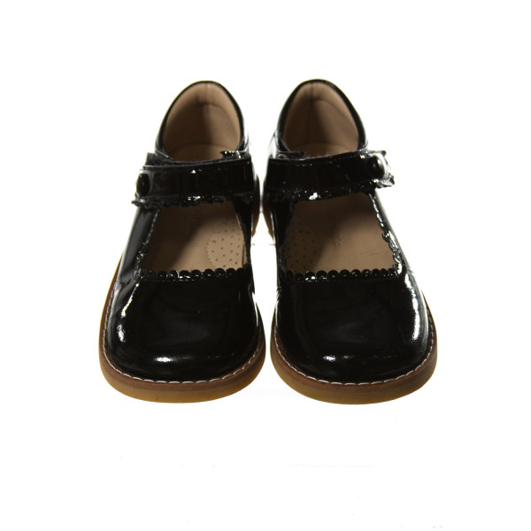 ELEPHANTITO BLACK SHOES WITH SCALLOPING *SIZE TODDLER 10, EUC