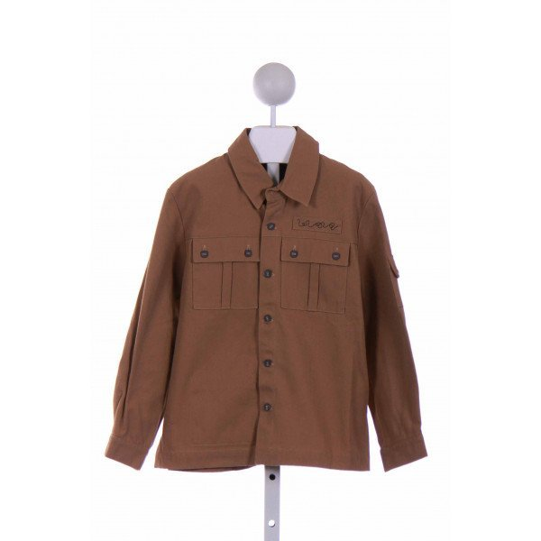 A.P.C  BROWN    CLOTH LS SHIRT