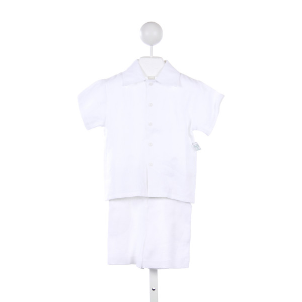 JACK & TEDDY WHITE LINEN 2 PIECE SHORT SET