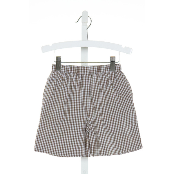 KATE & LIBBY  BROWN  GINGHAM  SHORTS