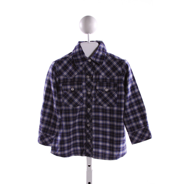 KAYCE HUGHES  MULTI-COLOR  PLAID  CLOTH LS SHIRT