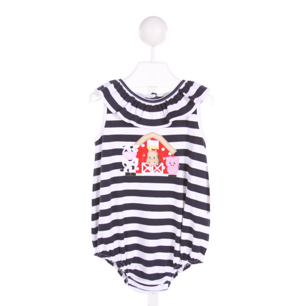STELLYBELLY  NAVY  STRIPED APPLIQUED BUBBLE WITH RUFFLE