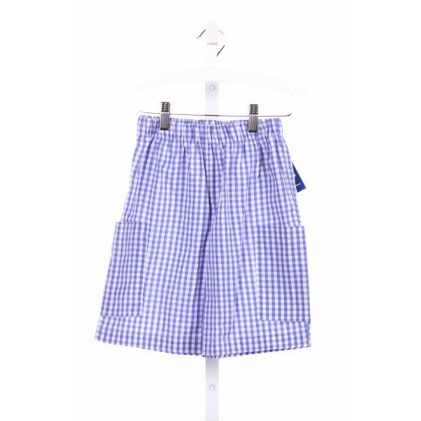 COTTON BLU  BLUE  GINGHAM  SHORTS