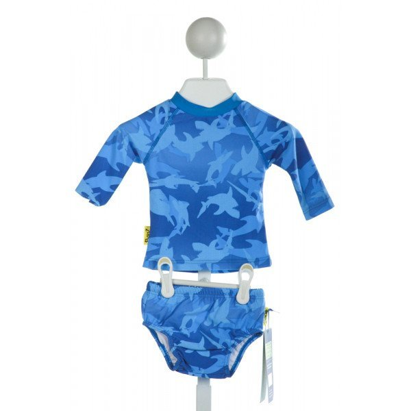 CBANZ  BLUE   PRINTED DESIGN 2-PIECE SWIMSUIT