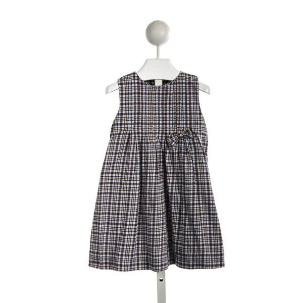 SOPHIE DESS BROWN AND BLUE PLAID FLANNEL DRESS *SLIGHT IMPERFECTION (SOME MINOR WASH WEAR)