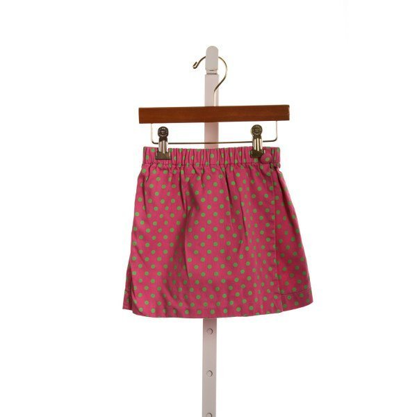 DAISIE AND DOODLEBUGS PINK AND GREEN SKORT *SLIGHT IMPERFECTION (LIGHT WASH WEAR)