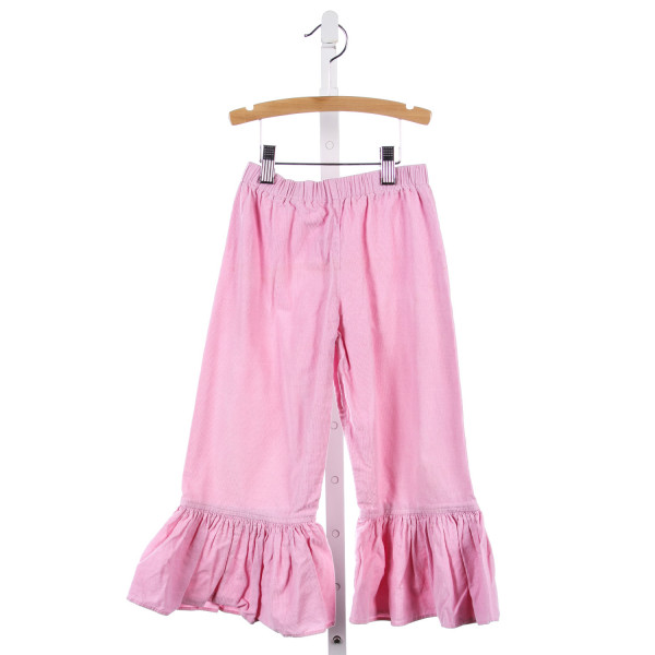 NAIN & JOE PINK RUFFLE HEM PANTS