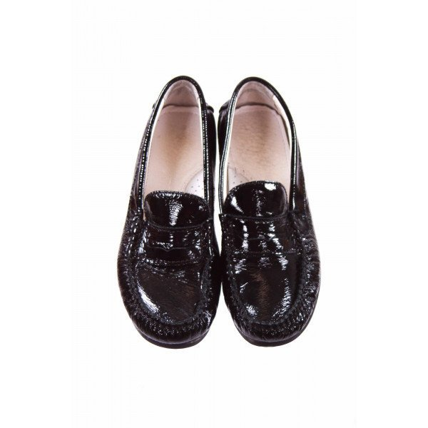 PRIMIGI BLACK PATENT LOAFERS CHILD SIZE 1.5 (EU SIZE 33) *EUC