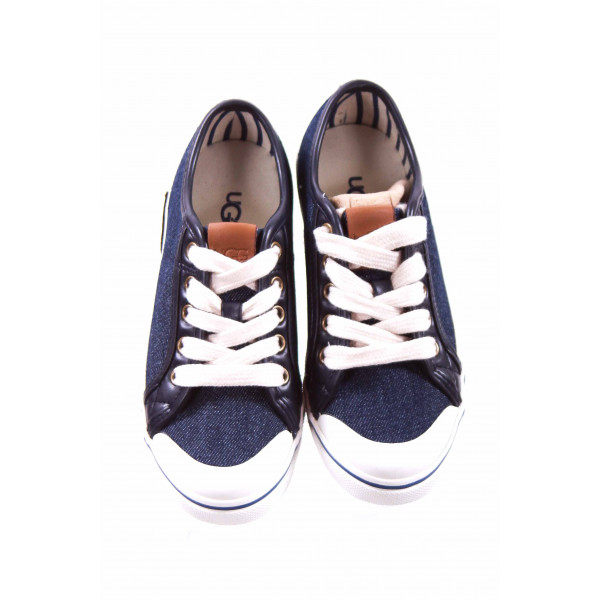 UGG NAVY CANVAS SNEAKERS TODDLER SIZE 13 *NWT
