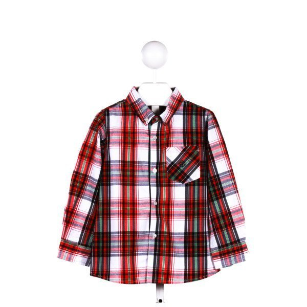 ANDY & EVAN  RED  PLAID  CLOTH LS SHIRT
