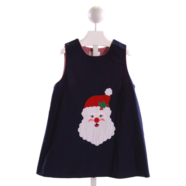 ROSALINA  NAVY   EMBROIDERED DRESS
