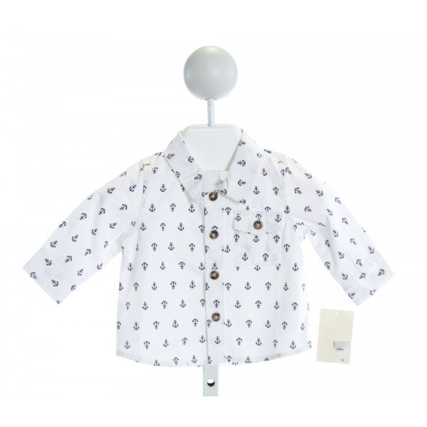 TUCKER & TATE  WHITE   PRINTED DESIGN CLOTH LS SHIRT