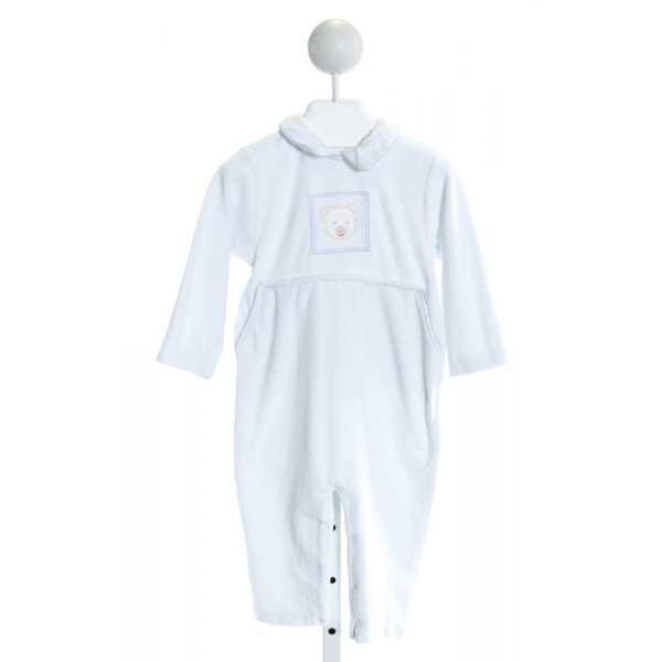 PICCINO PICCINA  LT BLUE VELVET  EMBROIDERED LAYETTE