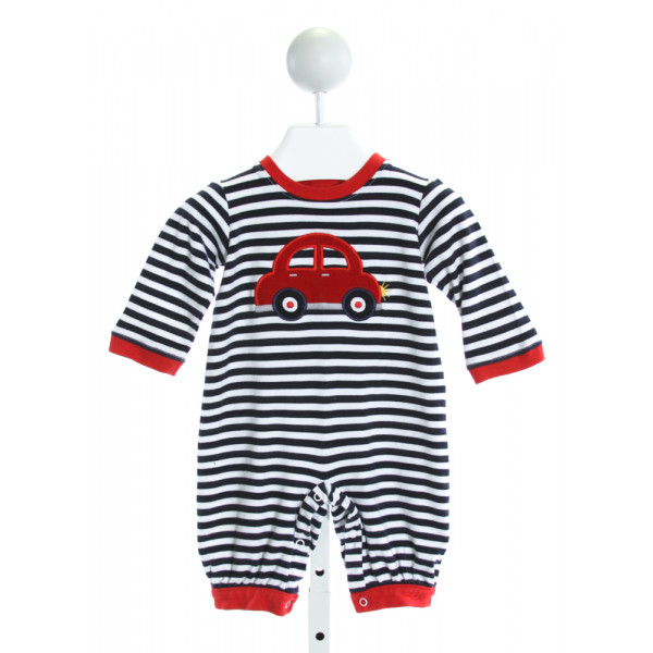 ZUCCINI  NAVY  STRIPED EMBROIDERED LAYETTE