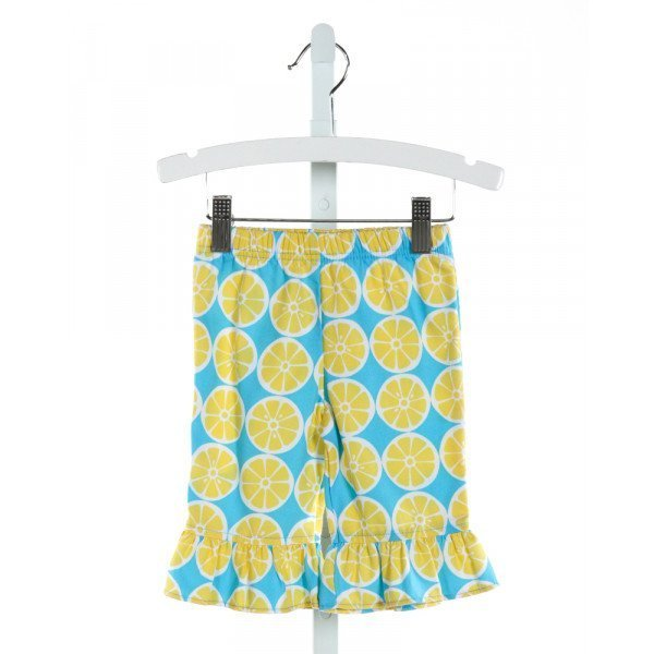 KELLY'S KIDS  LT BLUE   PRINTED DESIGN PANTS WITH RUFFLE