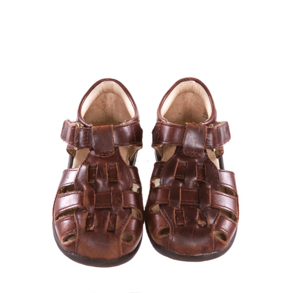 STRIDE RITE BROWN LEATHER SHOES *SIZE 8XW, GUC - SCUFFING