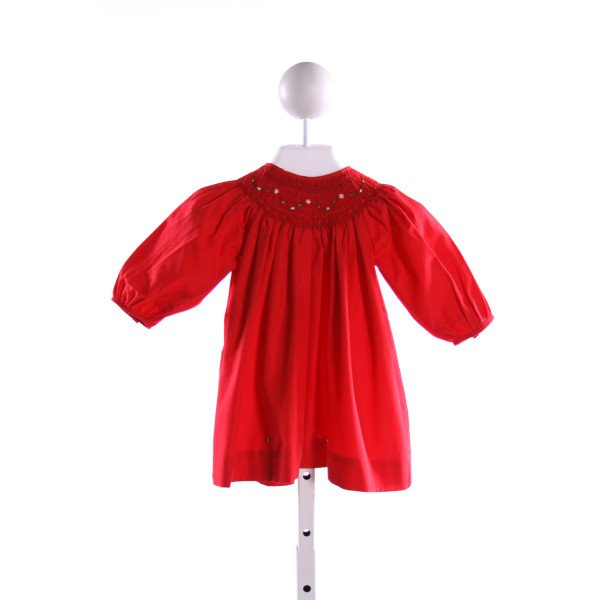 PETIT AMI  RED   SMOCKED DRESS