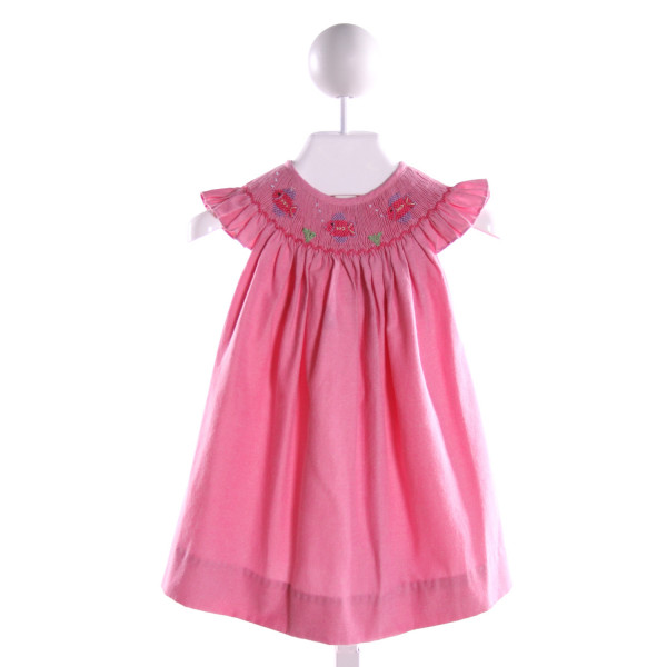 SIMPLY SMOCK  PINK   SMOCKED DRESS WITH RUFFLE