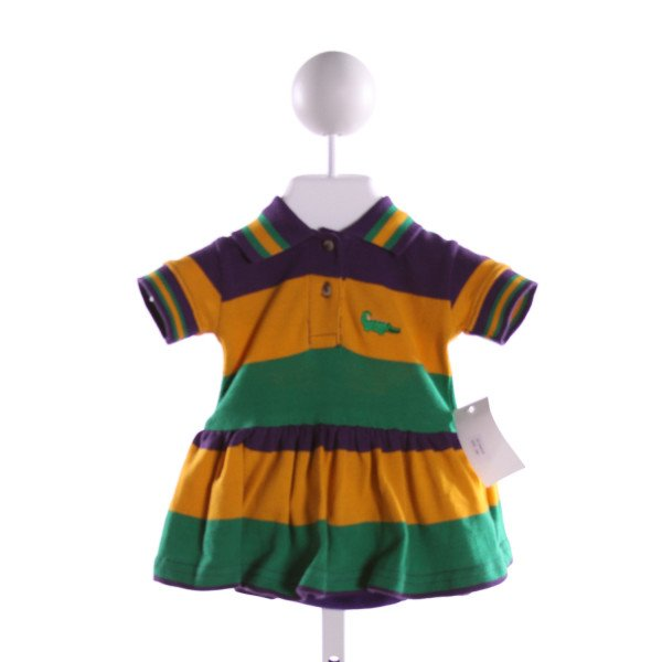 ME ME  MULTI-COLOR  STRIPED  DRESS WITH RUFFLE