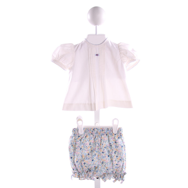 ZUCCINI  MULTI-COLOR  FLORAL EMBROIDERED 2-PIECE OUTFIT WITH RUFFLE