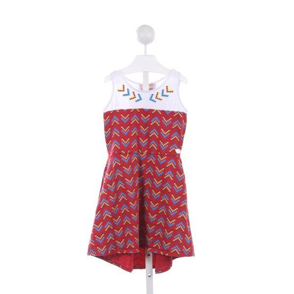 AMERICAN GIRL BEFOREVER KAYA RED AZTEC KNIT DRESS *LIGHT WASH WEAR