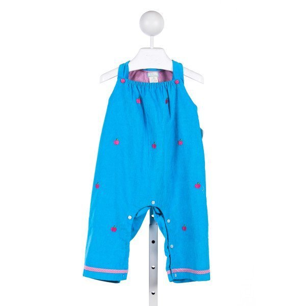 K & L BLUE CORDUROY APPLE ROMPER