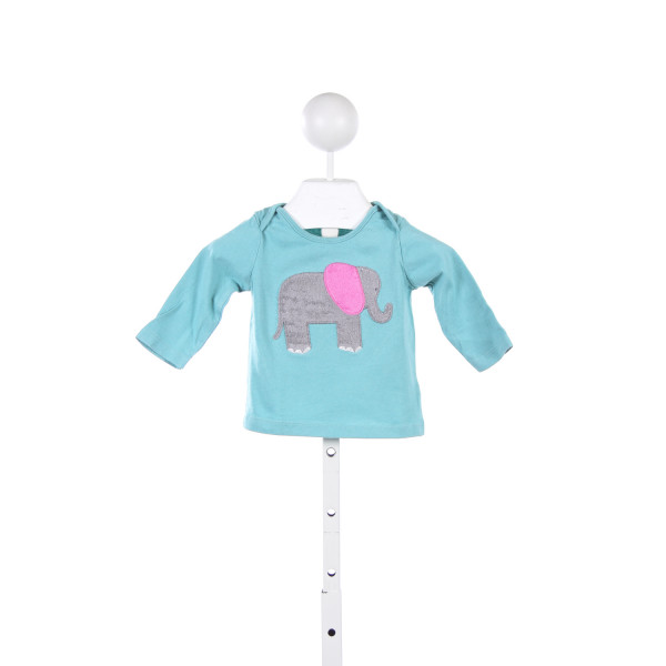 BABY BODEN AQUA KNIT TOP WITH ELEPHANT *SIZE 3-6M