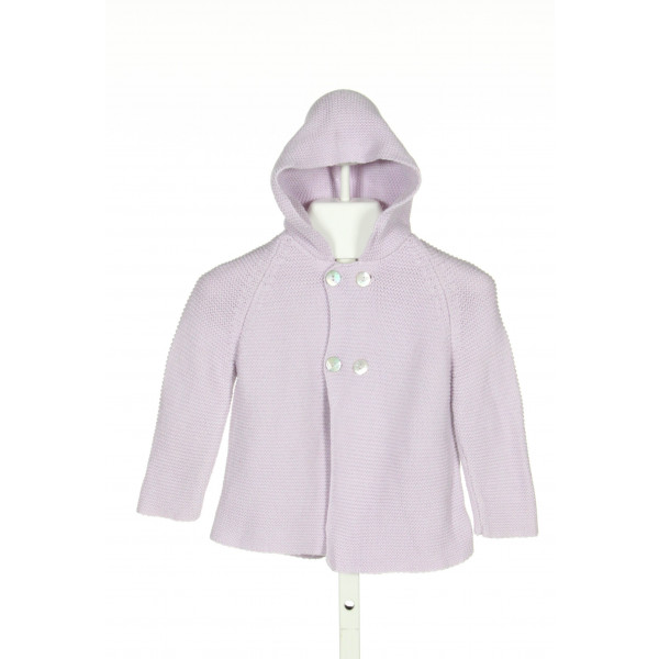 LA COQUETA  PURPLE COTTON   CARDIGAN