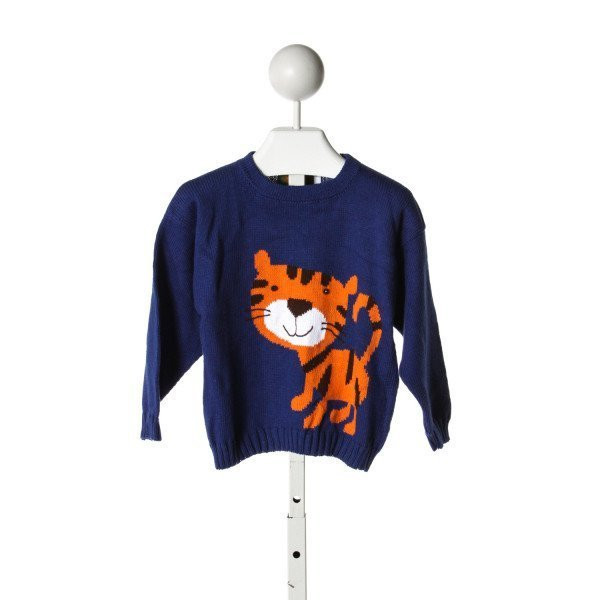 CLAVER  ROYAL BLUE COTTON PRINT  SWEATER