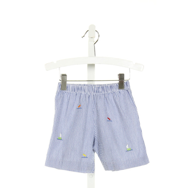 FLORENCE EISEMAN  BLUE   EMBROIDERED SHORTS