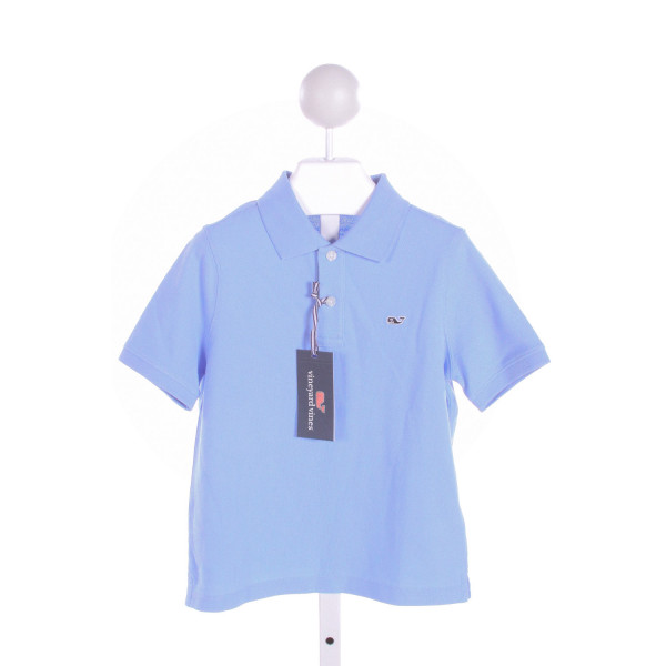 VINEYARD VINES  LT BLUE    KNIT SS SHIRT