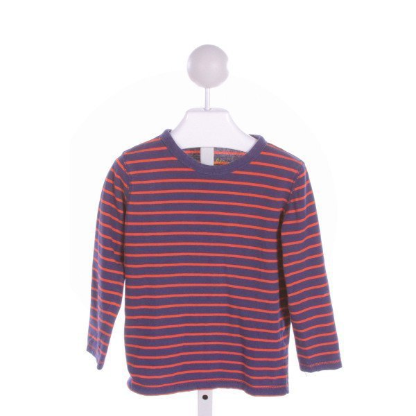 MINI BODEN  NAVY  STRIPED  KNIT LS SHIRT